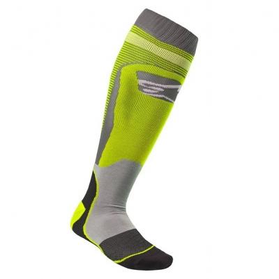 Alpinestars MX-Plus 1 Socks Grigio/Giallo Fluo