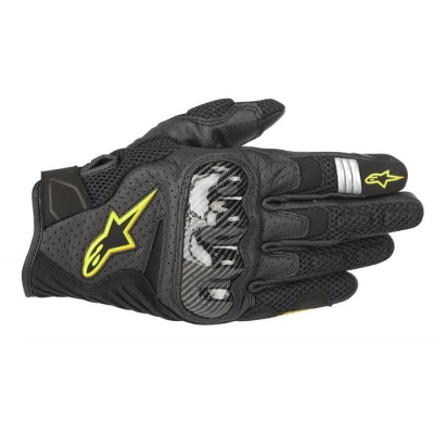 Alpinestars SMX-1 Air V2 Nero/Giallo Fluo