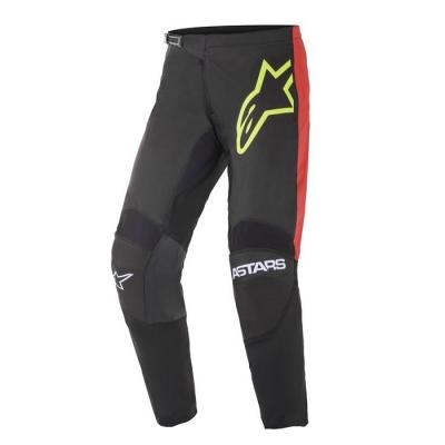 Alpinestars Fluid Tripple Nero/Rosso/Giallo Fluo Pantaloni