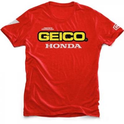 100% Geico Honda Tee Rossa