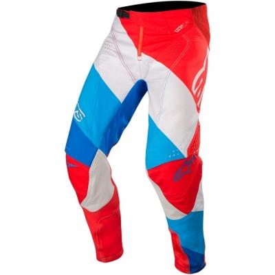 Alpinestars Techstar 19 Venom Rosso/Bianco/Blu Pantaloni