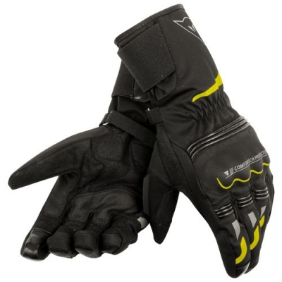 Dainese Tempest Long D-Dry Nero/Giallo Fluo Guanti