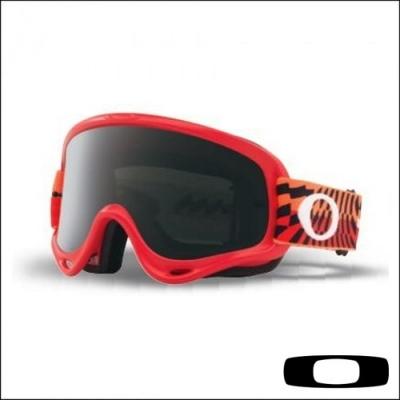 Oakley O'frame Braking Bumps Rosso/Arancio Lente Scura