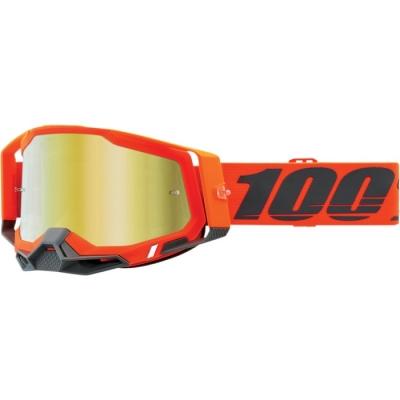 100% Racecraft 2 Arancio Lente Oro