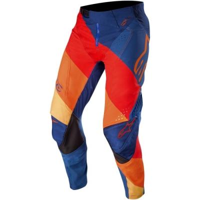 Alpinestars Techstar 19 Venom Blu/Arancio/Rosso Pantaloni