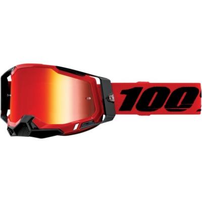 100% Racecraft 2 Rosso Lente Rossa