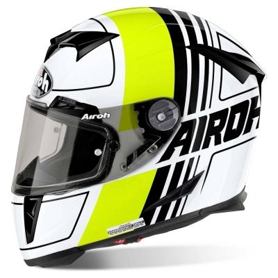 Airoh GP500 Scrape Bianco/Giallo Fluo