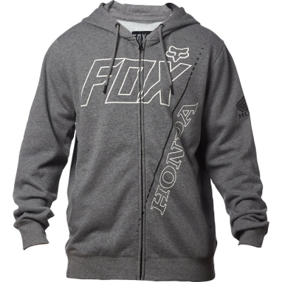 Fox Honda Zip Felpa Grigio