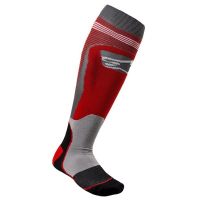 Alpinestars MX-Plus 1 Socks Grigio/Rosso
