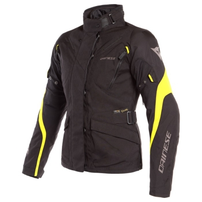 Dainese Tempest 2 Lady D-Dry Nero/Giallo Fluo Giacca Donna