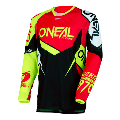 O'Neal Hardwear Flow True Rosso/Nero/Giallo Fluo Maglia